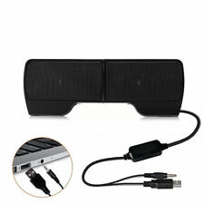 Small Portable USB Stereo Speaker for Notebook Laptop Computer PC with Clip On