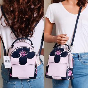 NWT Kate Spade Cameron Grand Flora Mini Convertible Backpack Crossbody Bag Pink