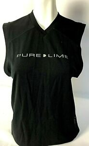 PURE LIME Ladies Top Loose Fit Black Gym/Fitness/Leisure Comfort Size L, XL