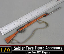 0soldier Story 1/6 Metal Gun Model WWII Lee ENFIELD Rifle Weapon Collectible Toy