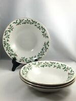 Set of 4 Crofton Holly and Berries Soup/Cereal Bowls