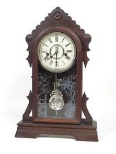 Antique brass mantel clocks for sale