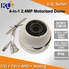 Ture Hd 4 in 1 2.4Mp Motorized Zoom lens 2.8-12mm Sony Ccd Ir Dome Camera Cctv