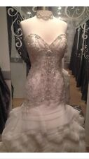 WOW! Maggie Sottero Wedding Gown Bridal Dresses NWT Ivory 12 Aurora Sexy Beaded
