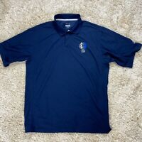 Dallas Mavericks NBA Reebok Men's Large Blue Embroidered Logo Short Sleeve Shirt