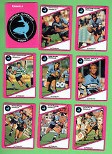 1988  CRONULLA SHARKS  SCANLENS RUGBY LEAGUE CARDS