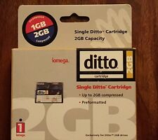 New Iomega ditto cartridge 2 gb compressed preformatted 10367