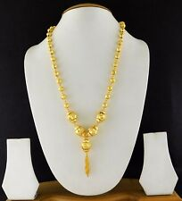 Indian Jewelry Gold Plated Fashion Beads Necklace Mala Bridal Bollywood Set 001