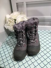 Columbia Boots Youth Size 3 Waterproof 200g. Insulation Faux Fur Collar
