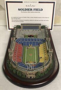Danbury Mint Old Soldiers Field Chicago Bears Replica Stadium-COA-Original Box