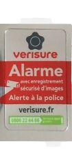 Autocollant dissuasif alarme VERISURE authentique 2,5x4 cm Neuf
