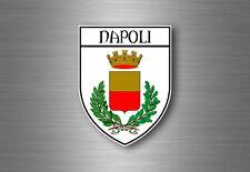 Autocollant sticker voiture blason ville drapeau ecusson naples napoli italie