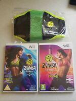 Nintendo Wii Zumba 1 & 2 with Zumba Fitness Belt. Both Fully Tested.