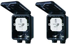 2x Home Easy HE866 Einbauschalter Außenbereich  Spritzwasser-geschützt IP44