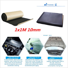 Car Engine Bonnet Acoustic Thermal Insulation Deadening Sound Proofing 10mm 1×1m