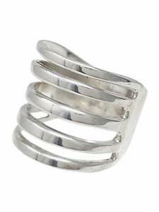 Sterling Silver Wide Wrap Ring, Plain Silver Ring