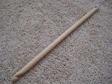 "Jumbo 16"" double ended end Afghan Tunisian crochet hook bamboo US Q 15 mm"
