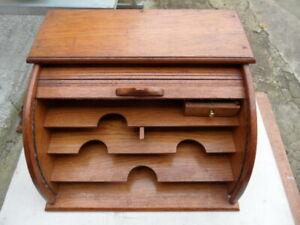 classeur meuble bois a rideau  1930
