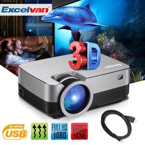 Projecteur Vidéoprojecteur 3000 Lumens FHD 1080P Home Cinéma LED AV/2*USB/HDMI