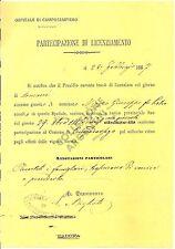 LETTERA del 1887 dall'Ospitale di Camposampiero al Municipio di Campodarsego