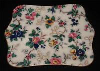 """Crown Ducal ASCOT, Floral Chintz Rectangular Serving Platter, 8 1/4"""" x 10 1/8"""""""