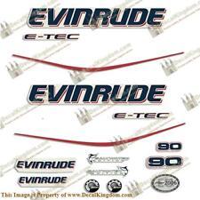 Evinrude 90hp E-Tec Outboard Decal Kit 3M Marine Grade