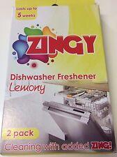 Dishwasher Freshener Freshner Lemon Fragrance Deodoriser Eliminates Odour 2 Pack