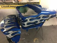 EZ GO RXV Golf Cart Body.....Blue with Tribal band