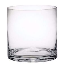cylinder glass tank floristry or candle table clear 15cm x 15cm clear handblown