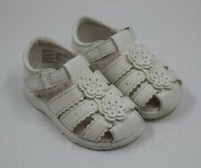 Wonder Nation Toddler Girls White Flower Embellished Sandals Shoes Size 5M