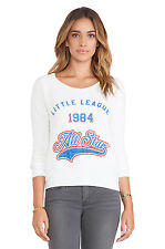 Rebel Yell Lil Sis lounger white sweatshirt top All star 1984 Size XS New