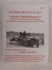 Book: Panzer Tracts No.22-1 Leichter Zugkraftwagen 1 t (Sd.Kfz 10)