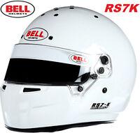 Bell RS7K Karting Helmet - Snell K2015 Rated - Kart Racing - Aero White RS7-K