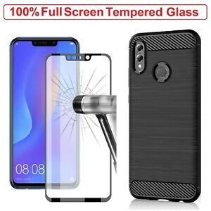 For Huawei P Smart 2019 Case Armor Cover+Tempered Glass Film Huawei P Smart 2019