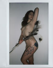 OOAK Original Instax Wide Polaroid Photo - Nude Naked Woman Brunette Tattoos