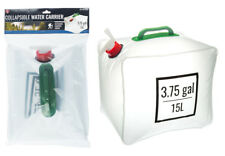 """SE 3.75 Gal (15L) Collapsible Water Carrier Bag with Handle 9"""" x 10"""" x 11.5"""" NEW"""