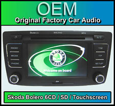 SKODA OCTAVIA lettore cd autoradio, Skoda Bolero 6 CARICATORE CD, Touchscreen SD