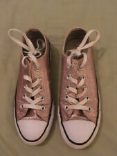 Ladies Converse All Star Pink Sparkly Glitter Trainers, Lightly Worn, size 4