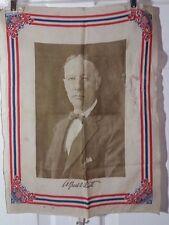 "ALFRED E. SMITH 1928 CAMPAIGN SILK 18.25"" X 14"" BANNER/SCARF FOR PRESIDENT RARE"