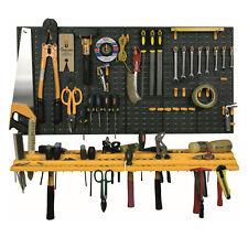 Wall Mounted Garage Workshop Tool Organiser & Storage Panel Rack Kit