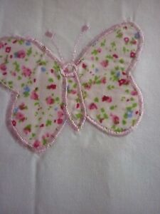 NEW LAURA  ASHLEY KIDS BELLA BUTTERFLY LINED PINK & WHITE CURTAINS