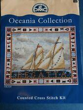 DMC Cross Stitch Kit - OCEANIA REGATTA SAILING SHIPS BOATS SEA FLAGS - New
