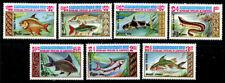Cambodia 447-453, MNH, Marine Life Fish x3504