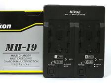 Caricabatterie Doppio ORIGINALE Nikon MH-19 x EN-EL3e D300 D90 D80 D70 D200 D100