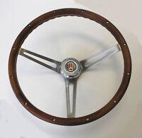 "69-93 Olds Cutlass 442 GRANT Wood Walnut Steering Wheel 15"" stainless steel"
