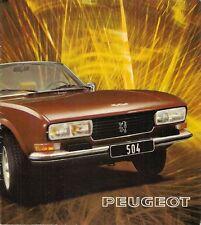 Peugeot 504 Coupe & Cabriolet V6 1974-75 Dutch Market Sales Brochure