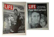 Life Magazines VG+ Paul McCartney November 7 1969 & April 16 1971 The Beatles