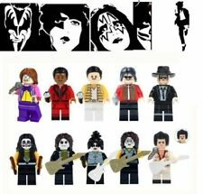 CANTANTI minifigure COMPATIBILE con Lego Elvis Michael Jackson Kurt Cobain
