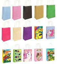 Paper Party Handle Gift Bags Twisted Handles Birthday Treat Cake Wedding Gifts