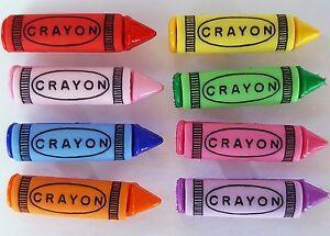 CRAYONS Craft Buttons Children School Colouring In Art Teacher Dress It Up